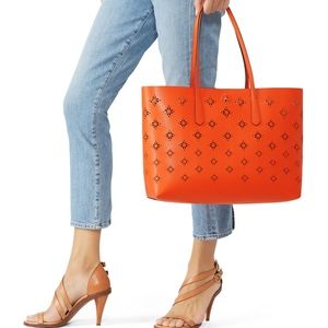 Kate Spade Molly Perforated Leather Tote Bag Purse